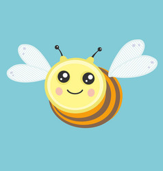 the character bee vector image