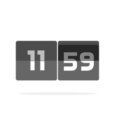 Timer counter icon countdown clock digits vector image