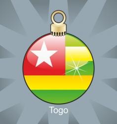 Togo flag on bulb vector image