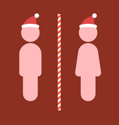 Toilet sign for christmas vector