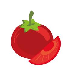 Tomato cut food healthy image vector