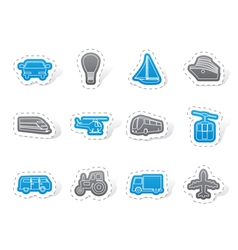 Transportation and travel icons vector image