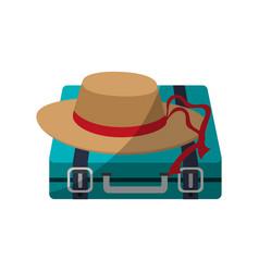 travel briefcase icon vector image