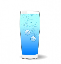 Two tablets in water vector