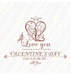Valentines Day type text calligraphic headline vector