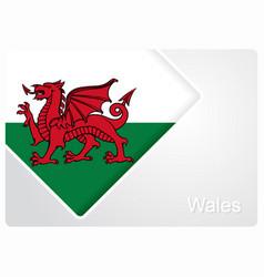 Welsh flag design background vector