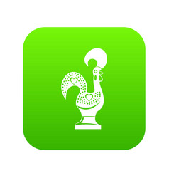 whistle toy icon green vector image