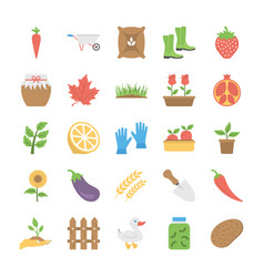 Agriculture and farming flat icons vector