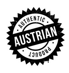 Authentic austrian product stamp vector