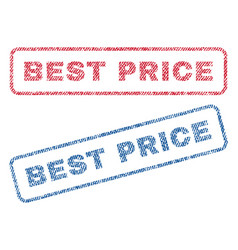 best price textile stamps vector image vector image