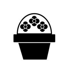 brush flower icon black sign vector image