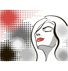 dreaming girl vector image vector image