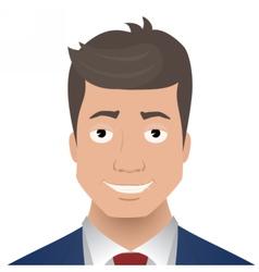 Face smiling businessman vector image