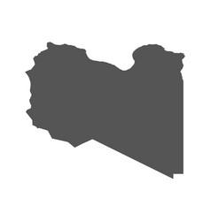 libya map black icon on white background vector image vector image