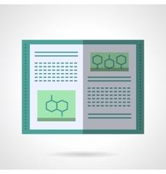 Molecular biology textbook flat color icon vector image