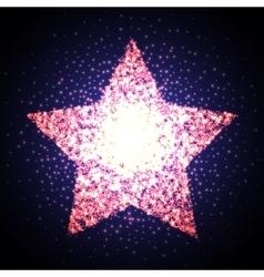 Abstract elegant sparkle star on black night sky vector image
