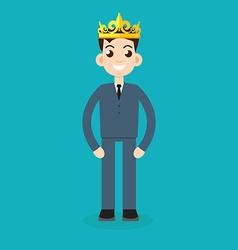 businessman crown vector image