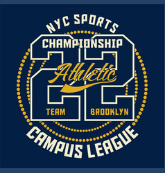 graphic sports championship athletic vector image