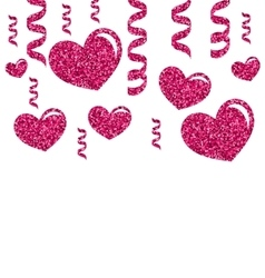 Greeting Card with Bright Hearts for Valentines vector image