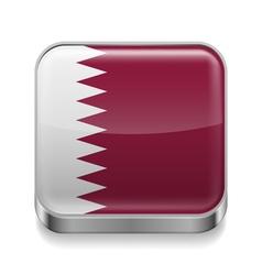 Metal icon of Qatar vector image vector image