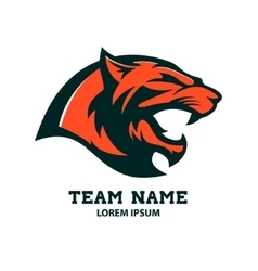 Puma head logo template Design element vector image vector image