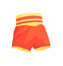 red boxing shorts clothing for athlete colorful vector image vector image