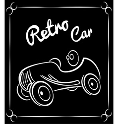 vehicle retro silhouette vector image vector image