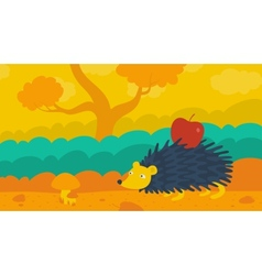 Hedgehog in the Forest vector image vector image