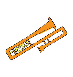 isolated trombone icon musical instrument vector image