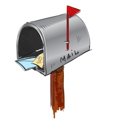 Mailbox cartoon icon vector image vector image