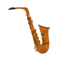 polygon texture saxophone icon vector image