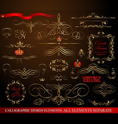 Calligraphic design vector image