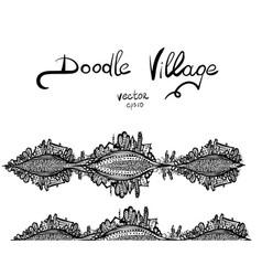 doodle squirrel vector image vector image