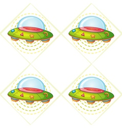 flying saucers vector image vector image