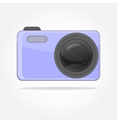 great camera with lens vector image vector image