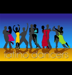 latino dancers vector image vector image