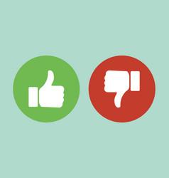 Like or Dislike vector image vector image