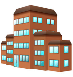3d design for building in brown color vector image