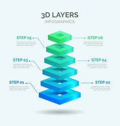 3d layers infographics 03 vector