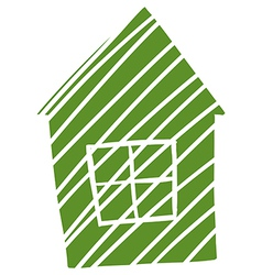 A sketch of a small house vector image