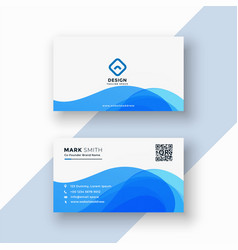 abstract blue stylish business card vector image