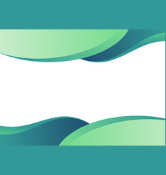 abstract business template green curved shape vector image