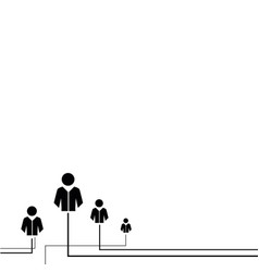 Abstract human community concept on white vector