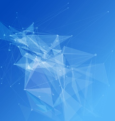 Abstract mesh tech background futuristic design vector