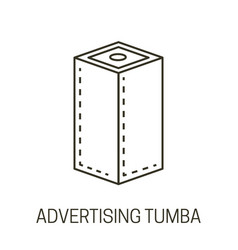 Advertising tumba or banner stand isolated line vector