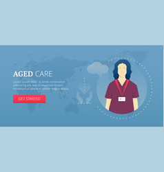 Aged care banner vector