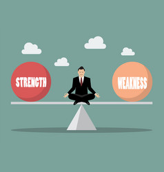 Balancing between strength and weakness vector