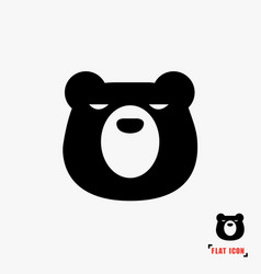 bear flat icon vector image