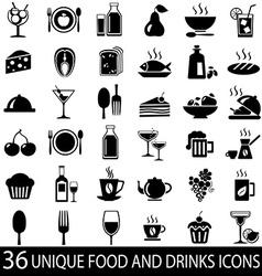 big set food icons vector image vector image