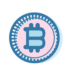 Bitcoin virtual currency business icon vector